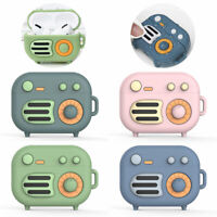 Wireless Charging Case Silicone Protective Cover Skin Retro Radio For AirPod Pro
