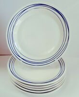 NEW ROYAL DOULTON PACIFIC LINES BLUE SET OF 6 DINNER PLATES