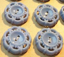 2cm azul aciano Space Age Vintage Botones - 24 en tarjeta