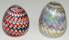 Gibson Art Glass Egg-shaped Paperweights lot of Two
