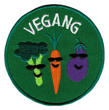 af33 Vegang Vegan Gemüse Karotte Brokkoli Aufnäher Bügelbild Patch 6,8 x 6,8 cm