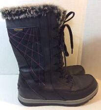 Kopen WOMENS Black Brisen Fur Lined Winter Boots Leather/textile SZ 9 Waterproof
