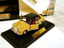 "Mercedes W 180 ""Ponton"" 220 S beige/schwarz noir negro black, Faller 1:43 boxed!"