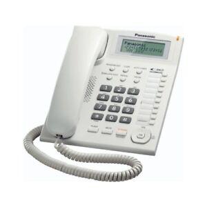Panasonic KX-TS880EXW Téléphone Fixe Pour Bureau Roi-Dial Montable A Mural