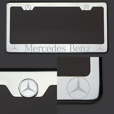 T304 Chrome Polished Mercedes Benz Laser Etched Engraved License Plate Frame New