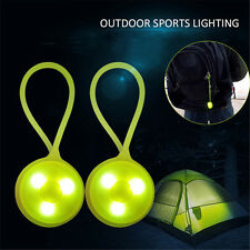 Silicone Outdoor Safety Purse Bag Backpack Clip On Night LED Warning Lamp Light