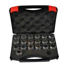 New 19 PCS  ER32 SPRING COLLETS SET (Range 2mm-20mm) ER32 Collet Chuck CNC Mill