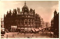 Colmore Row New Street Birmingham RPPC postcard real photograph antique social