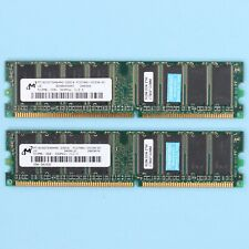 1GB Micron 2x 512MB DDR DDR-333 PC2700 DDR1 Desktop 184Pin RAM Memory *TESTED*