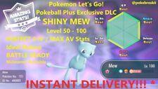 Pokeball Plus In-Game SHINY MEW: Pokemon Let's Go 6IV / Max AV - INSTANT