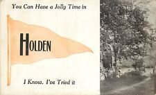 """You Can Have a Jolly Time"" in Holden Vermont~Path To Lake~1912 Pennant PC"