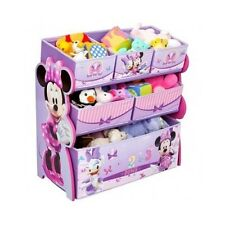Disney Minnie Mouse Toy Box Organizer Bin Children Kids Toys Storage Play Room
