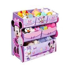 Disney Minnie Mouse Toy Box Organizer Bin Children Kids Toys Storage Play Room