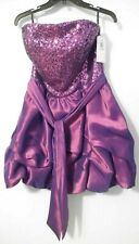 NWT Jessica McClintock Gunne Sax Sz 11 Purple Strapless Sequin Dress