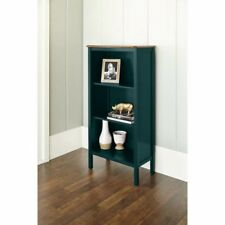 3 Shelf Book Case Home Office Dorm Furniture Walnut Wood Top Deep Teal Or Red