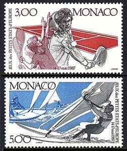 Monaco 1577-1578, MNH. 2nd Small European Countries Games. Tennis, 1987