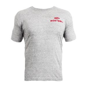 Men's Official Biosteel Grey Crewneck T-Shirt Tri-Blend Gym Sports T-Shirt