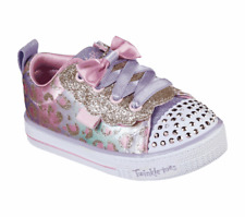 Skechers Girls Twinkle Toes Light Up Shoe Shuffle Lite -Sweet Spots 314022N/LPMT