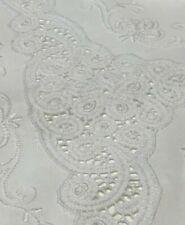 White Lace Vintage Pure Cotton QB DB Sheet & Pillowcases Unused NOS Antique