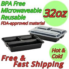 32oz Meal Prep Food Containers BPA FREE Microwavable Lunch Box Premium Quality