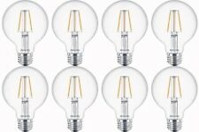 Philips LED Light Bulb Warm Glow Dimmable Soft White 5W 350 Lum G25 8 Pack