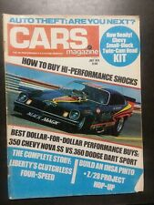CARS July 1974 Chevrolet Dodge 350 Nova Pinto 360 Dart Segrini Vega Z28