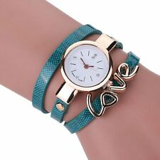 Elégante Montre Quartz Femme Long Bracelet Love bleu PROMO