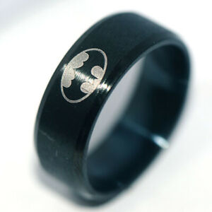 Stainless Steel Rings Black Mens Band Ring Man Jewelry Party Hip Hop Ring Size11