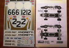 DECAL: 1/12 TAB12086 1968/1969 LOTUS 49B FULL SHEET