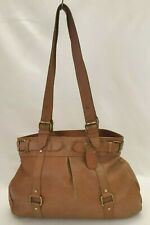 Ladies Womens Bag handbag Brown Real Leather Shoulder Bag