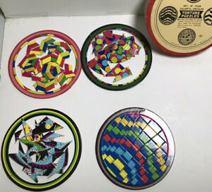 Vtg Shackman Torture Puzzles - 4 Round Geometric Dragon Made in Japan 1960s