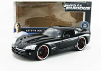 Jada Letty's Dodge Viper SRT10 Fast and Furious 1:24 Scale Diecast Car Model