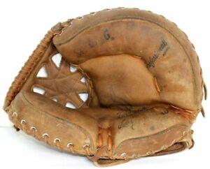 VTG Spalding Larry Yogi Berra 42-919 RHT Catchers Mitt Glove Right Hand Thrower