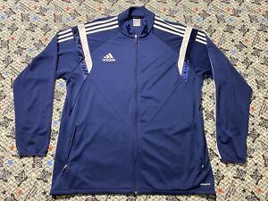 Adidas Clima Cool Track Jacket Men's XL Blue Full Zip