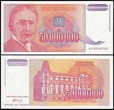Yugoslavia 50 Million Dinara, 1993, P-133, UNC