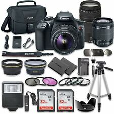 Canon EOS Rebel T6 DSLR  with  EF-S 18-55mm  IS II Lens + EF 75-300mm III Lens