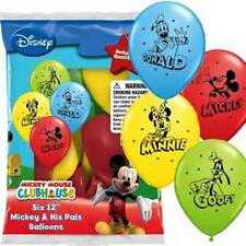 "12"" Disney Mickey Mouse & Pals Latex Helium Balloons Birthday Party Qualatex"