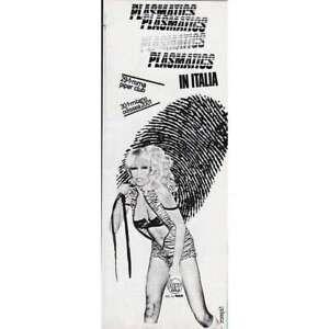 PLASMATICS ITALIAN TOUR 1981 ITALY PUNK PROMO Tour poster FLYER
