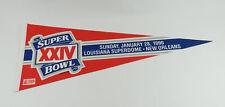1990 Super Bowl Xxiv Louisiana Superdome New Orleans 01/28/1990 Football Pennant