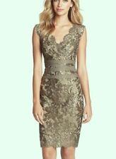 Tadashi Shoji Embellished Metallic Lace Sheath Dress 16