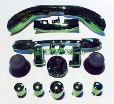 XBOX 360 Cromato Verde Completo di tastierino, Abxy, trigger, PARAURTI, MIC Trim mod KIT