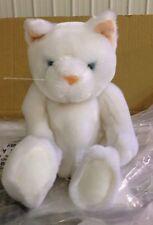 $24reg New Deluxe 11 Snow White Kitty Cat Kitten- Velvety stuffed animal toy 30d