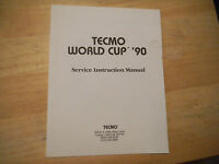 WORLD CUP 90  TECMO       arcade video game  owners manual
