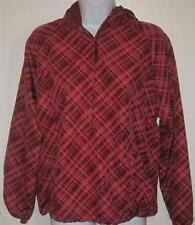 NIKE misses sz 0 2 red plaid running warm up windbreaker type jacket r