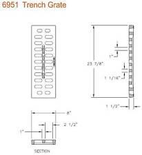 """East Jordan 6951M2 Cast Iron Trench Drain Grate - 8"""" W X 24"""" L  X 1-1/2"""" D"""