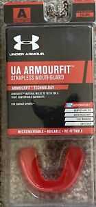 NIB Under Armour Adult (12+) Armourfit Strapless Mouth Guard Red Free Shipping