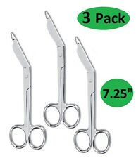 "3 Lister Bandage Scissors 7.25"" Surgical Medical Instruments Stainless Steel"