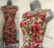 NEXT Woman - 40's 50's Style Flower Print Pencil Dress Sz 8 - 10 EU36/38