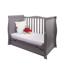 NEW GREY SLEIGH MINI COT BED & DRAWER - OPTIONAL BRITISH MADE SAFETY MATTRESS