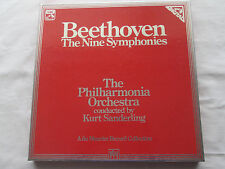 BEETHOVEN THE NINE SYMPHONIES - KURT SANDERLING 1981 HMV 8LP VINLY BOXSET